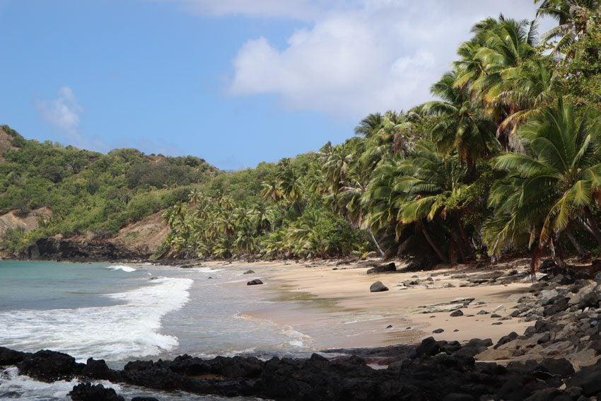 Anaho Bay beach - nuku hiva - marquesas islands - french polynesia