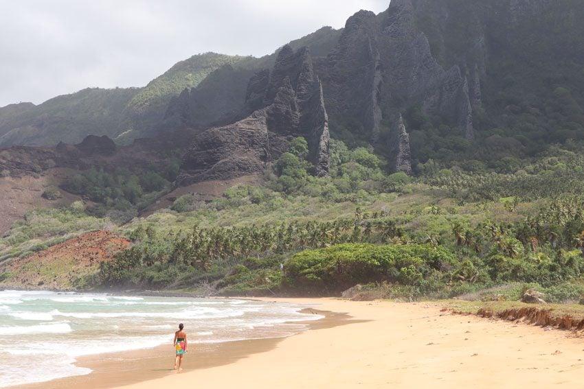 Haatuatua beach - nuku hiva - marquesas islands - french polynesia