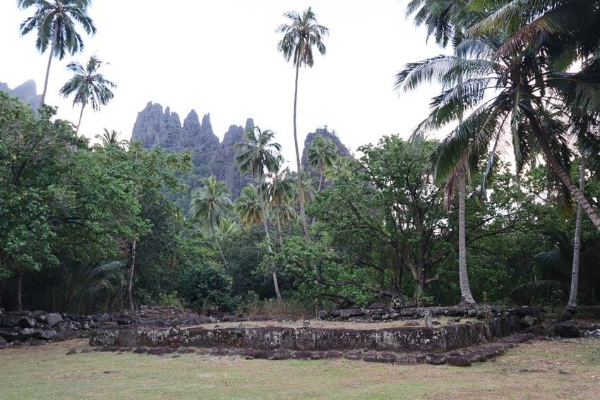 Hikokua archeological site - nuku hiva - marquesas islands - french polynesia