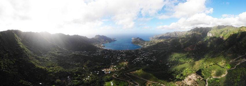 Panoramic view of Taiohae - nuku hiva - marquesas islands - french polynesia