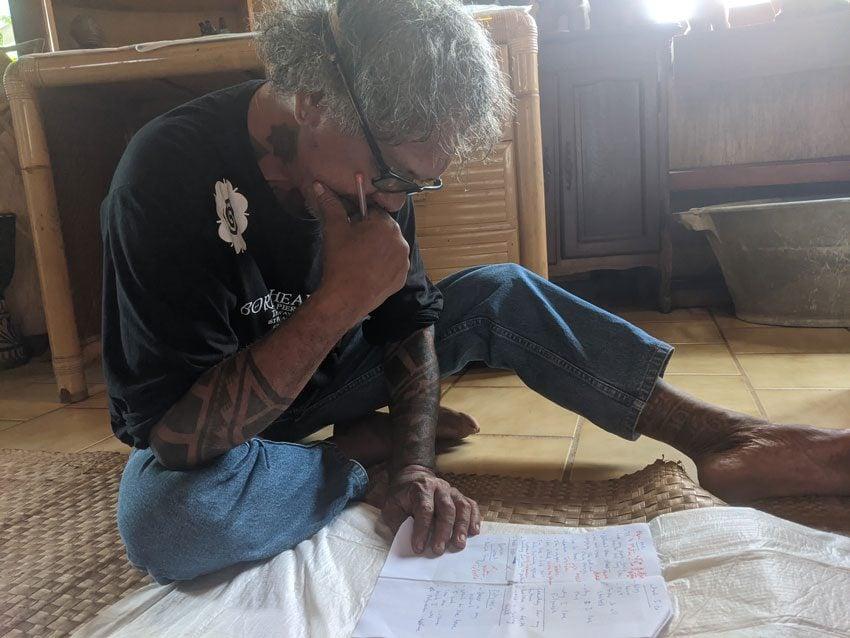 Purotu - traditional tattoo - moore french polynesia
