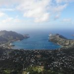 aerial view of Taiohae - nuku hiva - marquesas islands - french polynesia