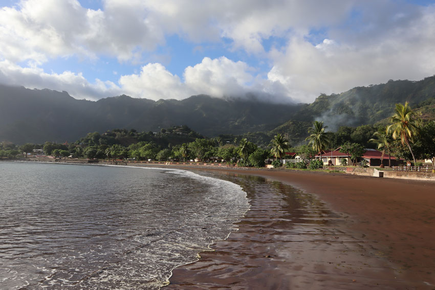 beach in Taiohae - nuku hiva - marquesas islands - french polynesia