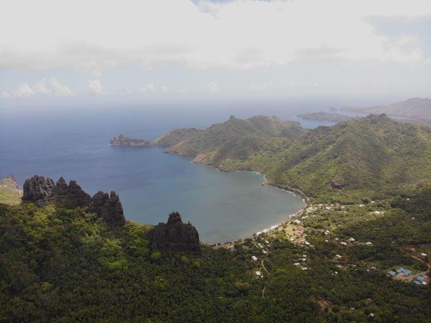 cliffs of Hatiheu - nuku hiva - marquesas islands - french polynesia
