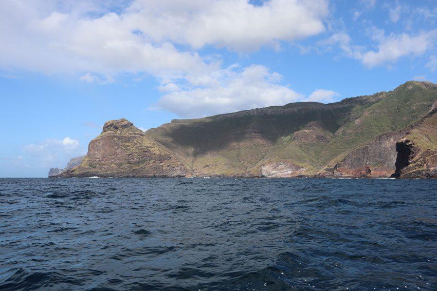 coastline on boat to Hakaui Valley - nuku hiva - marquesas islands - french polynesia
