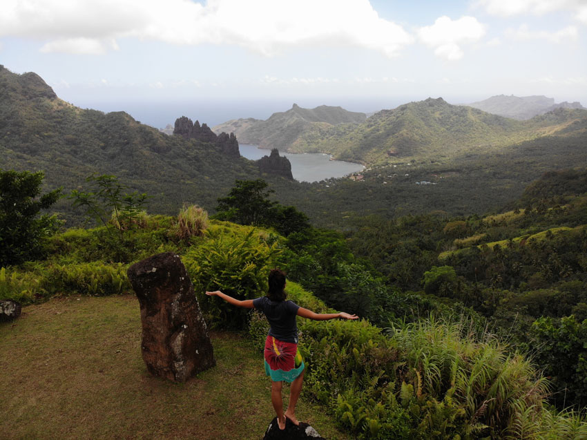 dricia at Hatiheu lookout - nuku hiva - marquesas islands - french polynesia