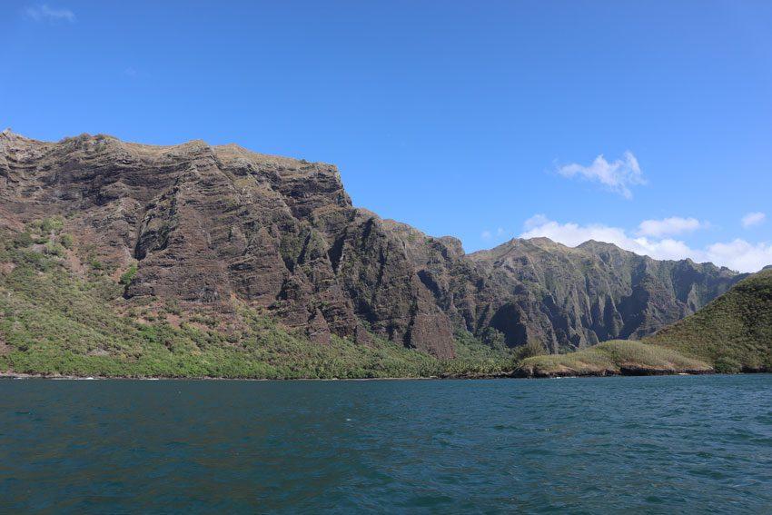 entering Hakatea Bay - nuku hiva - marquesas islands - french polynesia