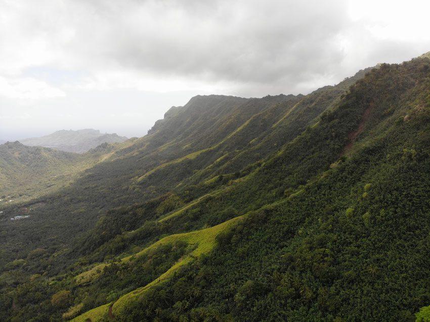 lush hills near Hatiheu - nuku hiva - marquesas islands - french polynesia