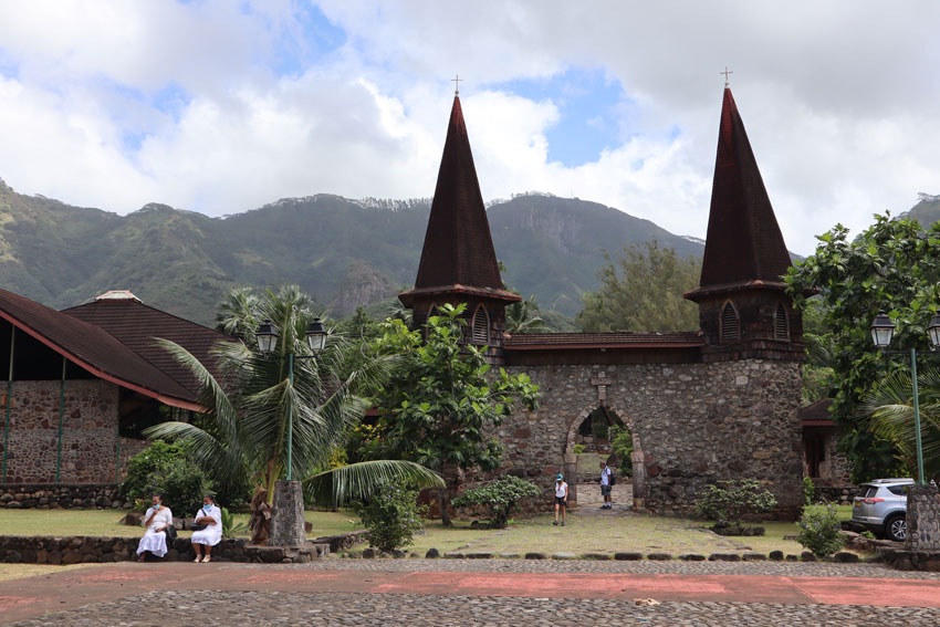 notre dame cathedral Taiohae - nuku hiva - marquesas islands - french polynesia