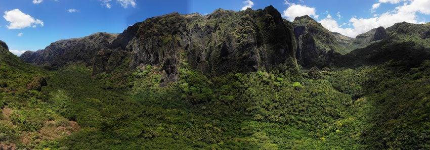 panoramic view Hakaui Valley - nuku hiva - marquesas islands - french polynesia