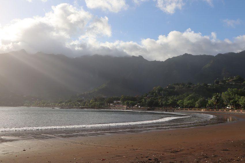 rays of sun Taiohae - nuku hiva - marquesas islands - french polynesia