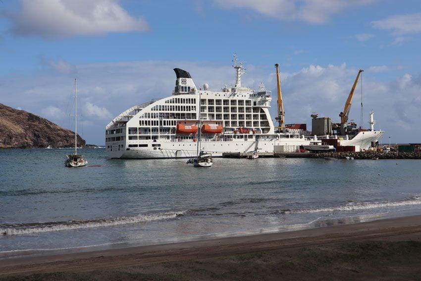 Aranui cruise and cargo ship - Ua Pou - Marquesas Islands French Polynesia