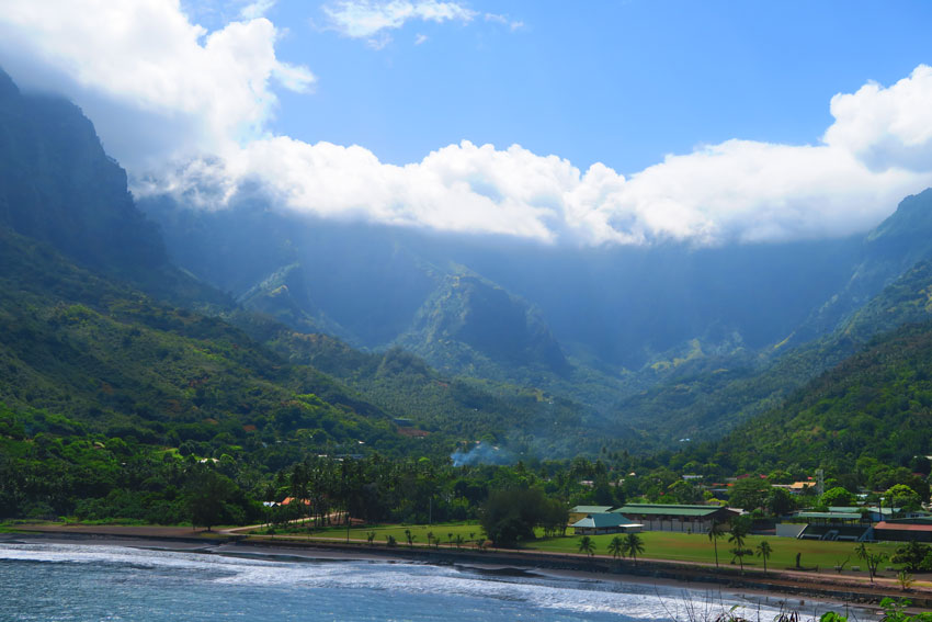 Atuona Village Hiva Oa Marquesas Islands French Polynesia