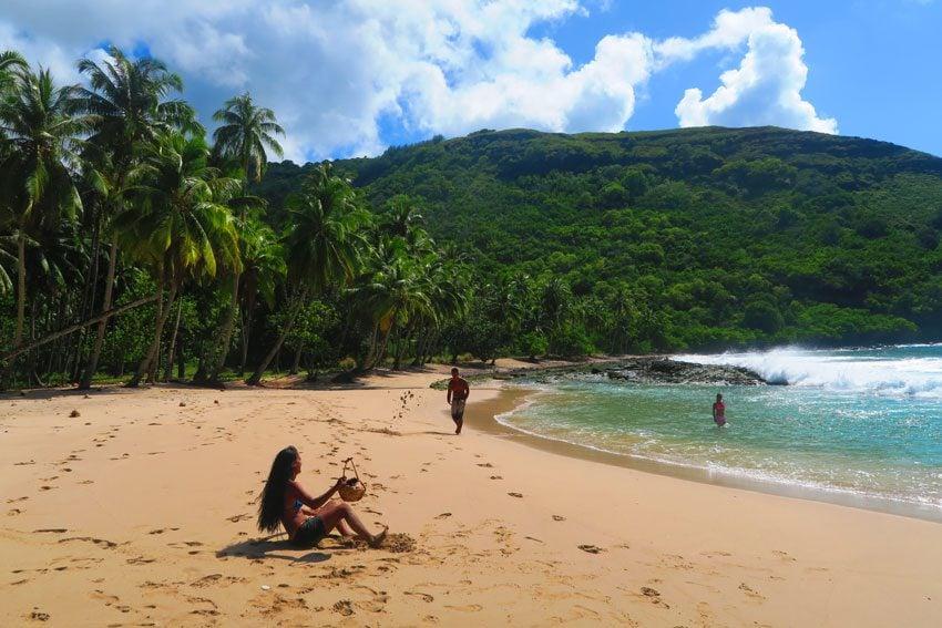 Hanatekuua Beach - Hiva Oa Marquesas Islands French Polynesia