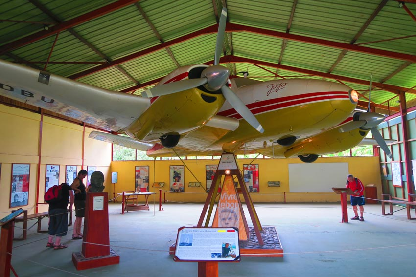 Jojo airplane jacques brel museum Hiva Oa Marquesas Islands French Polynesia