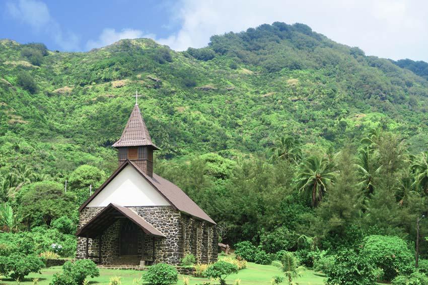 church in taaoa - Hiva Oa Marquesas Islands French Polynesia