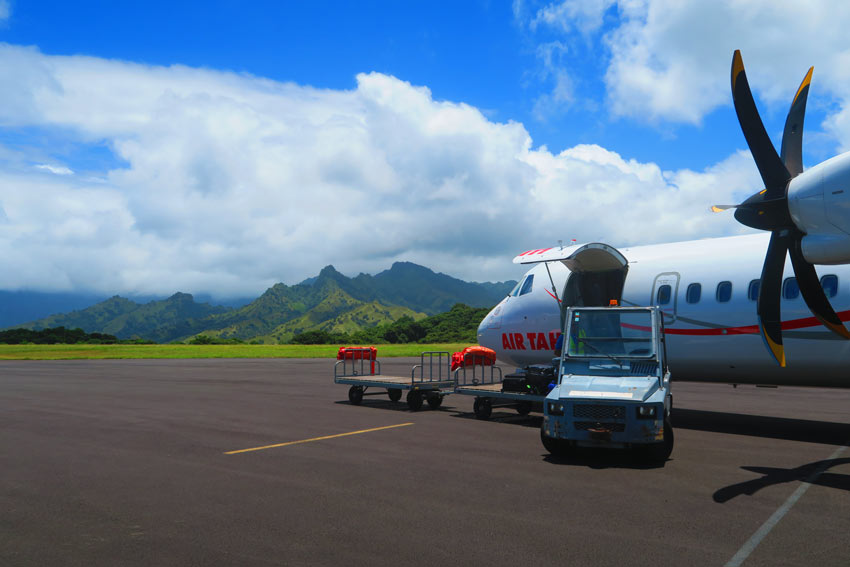 how to get to the marquesas islands - air tahiti in Hiva Oa - French Polynesia