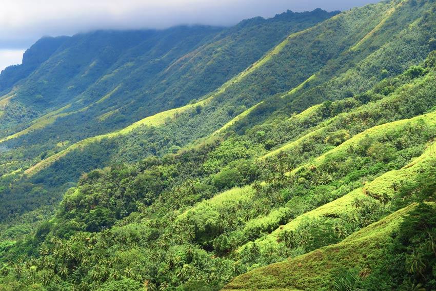 lush mountains in Nuku Hiva marquesas islands french polynesia