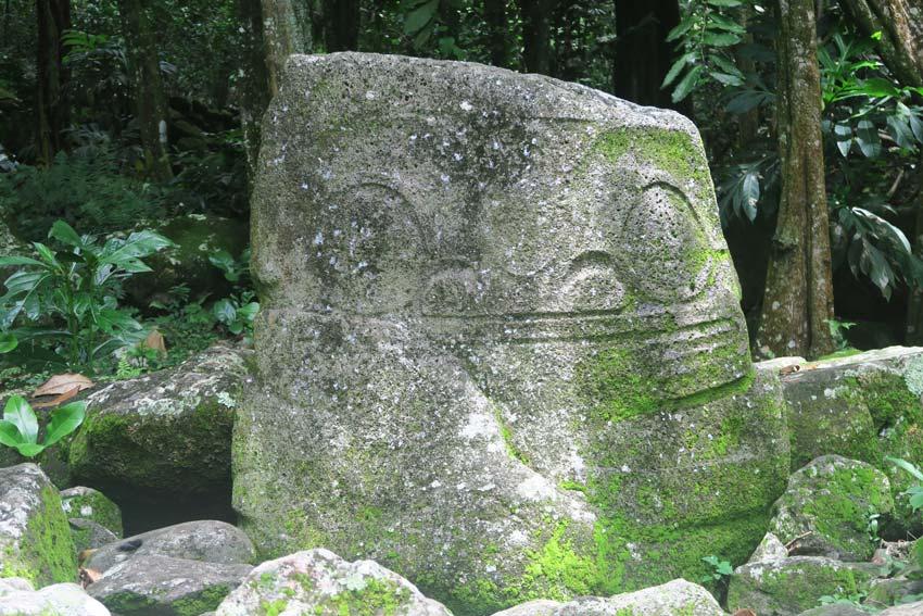 stone statue in upeke - Hiva Oa Marquesas Islands French Polynesia