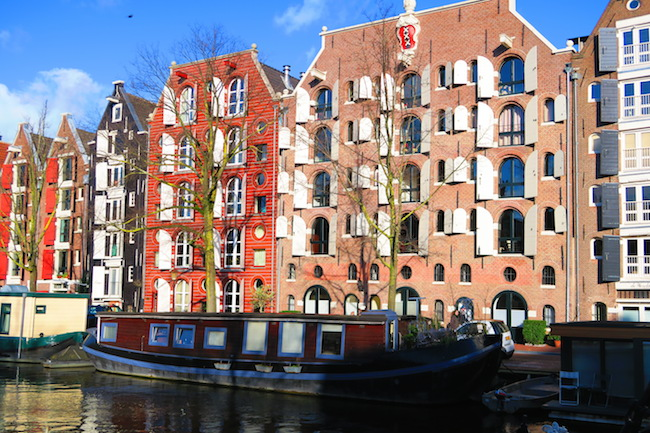Amsterdam Canal Houses Large Shutters