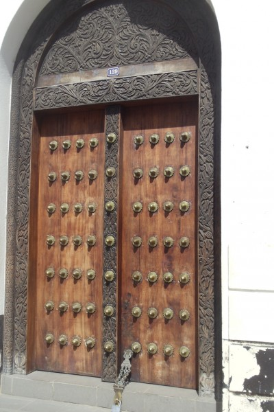 Decorated Door in Stone Town Zanzibar