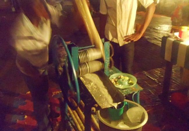 Sugar Cane Juice at Forodhani Gardens  Stone Town