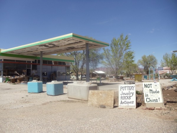 Desert gas station USA