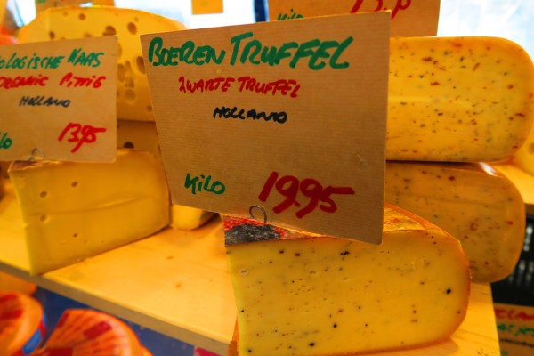 Cheese in Noordermarkt Amsterdam