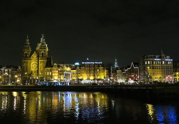 Amsterdam Centraal area by Night