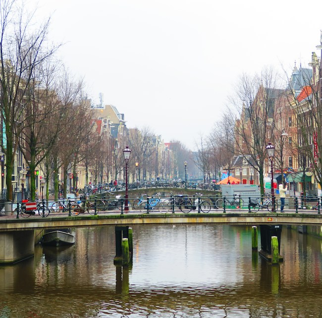 Old Amsterdam Canals Winter