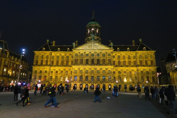 Amsterdam Royal Palace at night