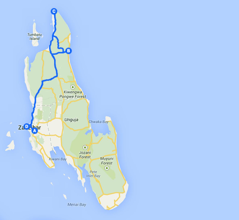 Zanzibar travel Itinerary