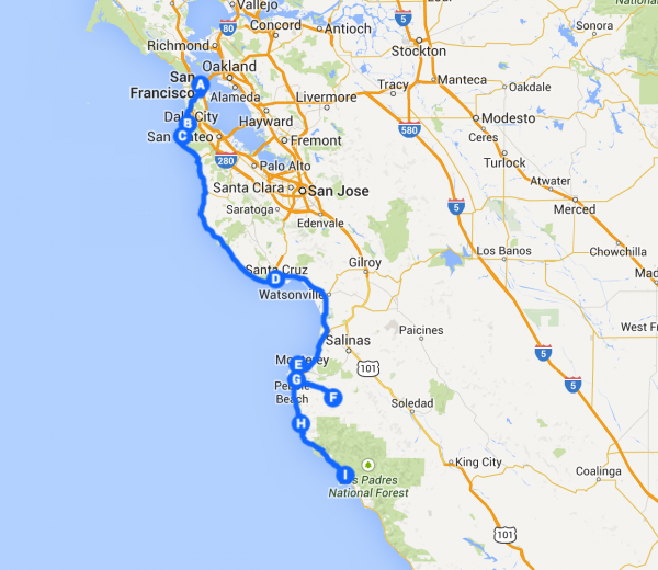 Pacific Coast Highway road trip itinerary