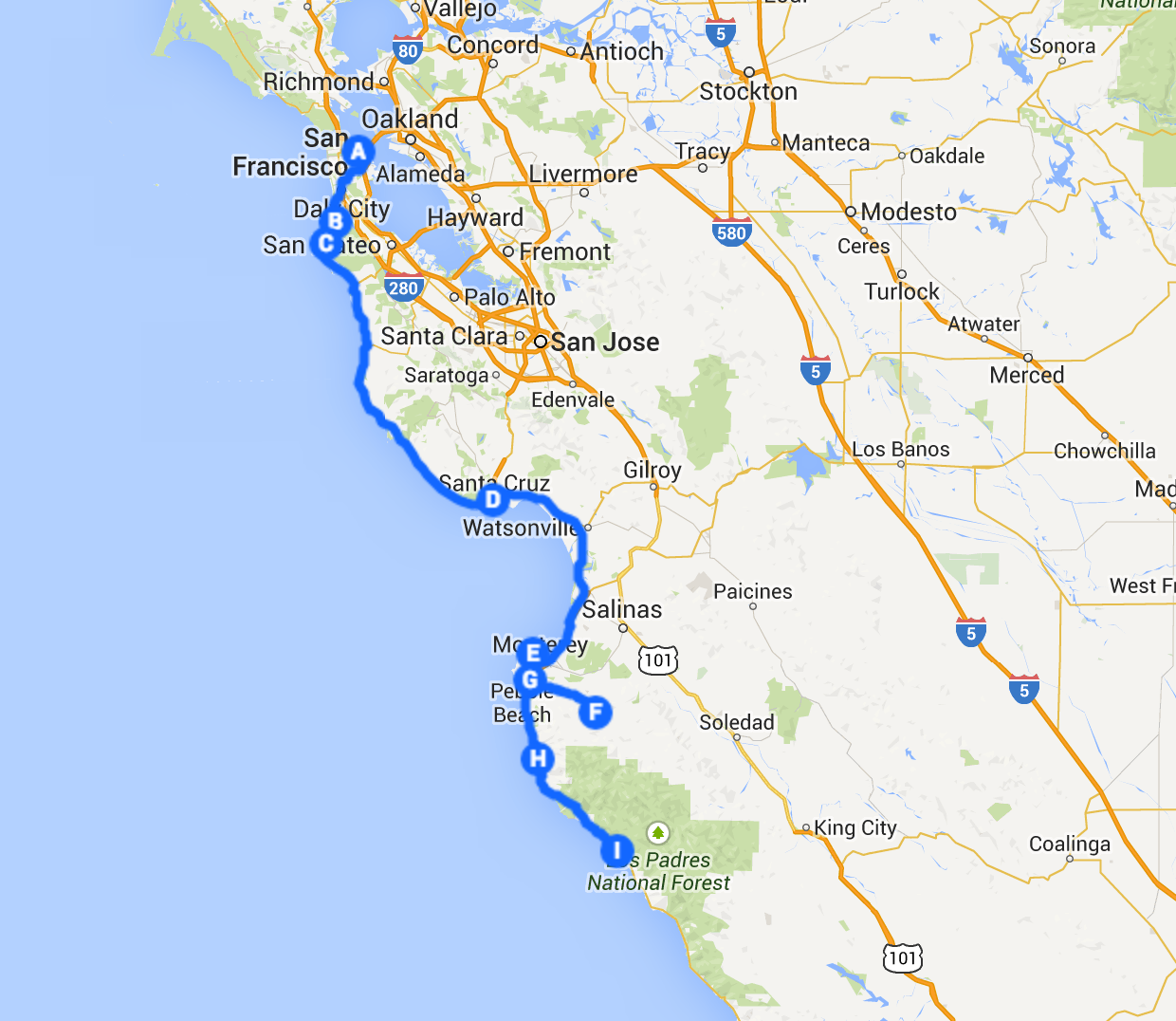 Hwy 1 Itinerary X Days In Y